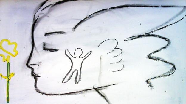 Grafitti eines Engels.