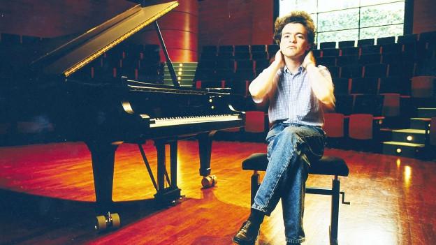 Evgeny Kissin vor seinem Klavier