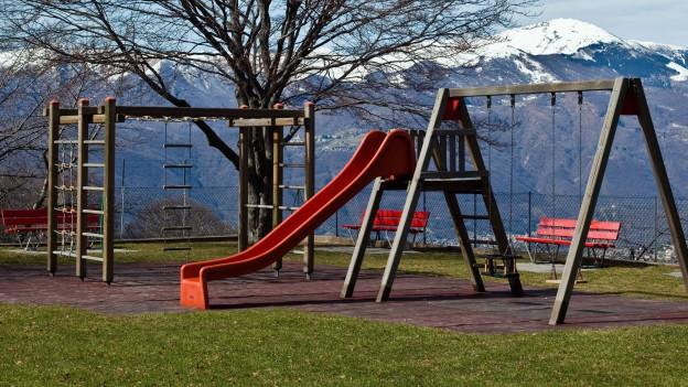 Ein Spielplatz in den Alpen