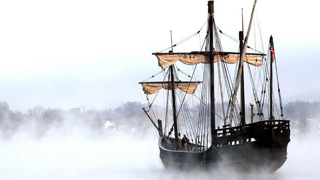 Ein Nachbau der Nina, eines der Schiffe von Christoph Kolumbus.