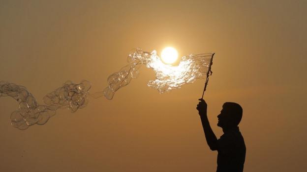 Seife: Sie sorgt für schöne Blasen, aber auch für Luftverschmutzung.