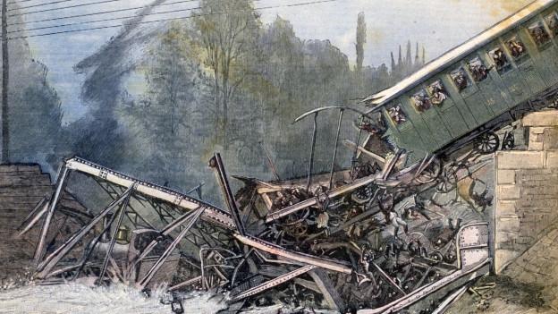 Zeichnung des Zugungklücks