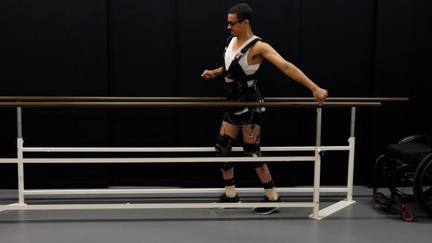 David Mzee beim Training