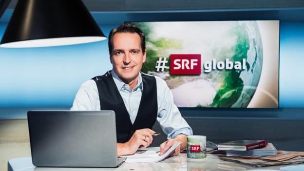 I talk bullshit! Das Englisch von SRF-Moderator Florian Inhauser wird auf Herz und Nieren getestet.