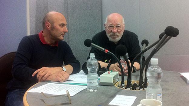 Zu Gast bei Focus: Der ehemalige Jesuit Lukas Niederberger und der Ex-Werber und jetzige Mönch, Bruder Magnus.