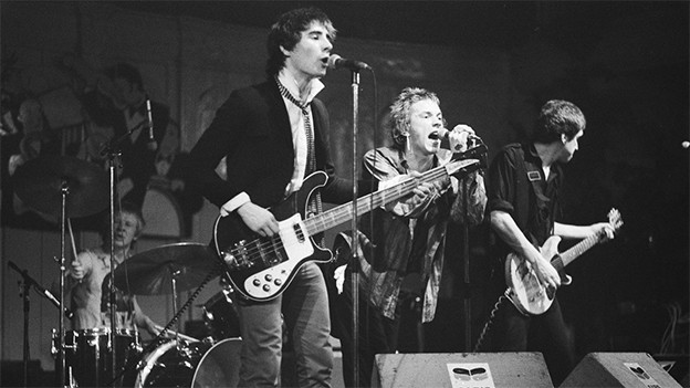 Paul Cook, Glen Matlock, Johnny Rotten und Steve Jones: The Sex Pistols 1977 in Amsterdam