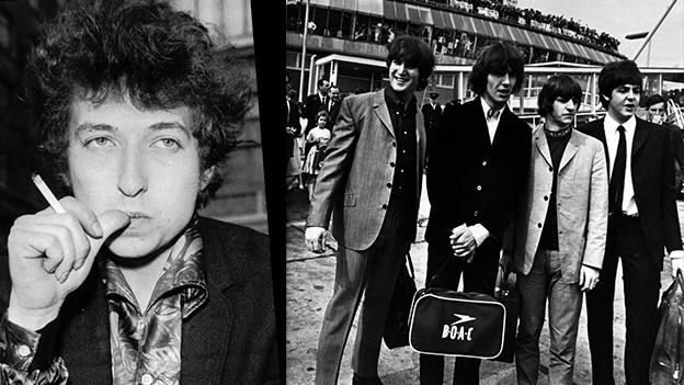 Bob Dylan und die Beatles im Jahr 1965