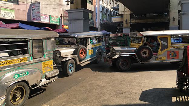 Bekannter als Pinoy-Musik: Die philippinischen Jeepneys.
