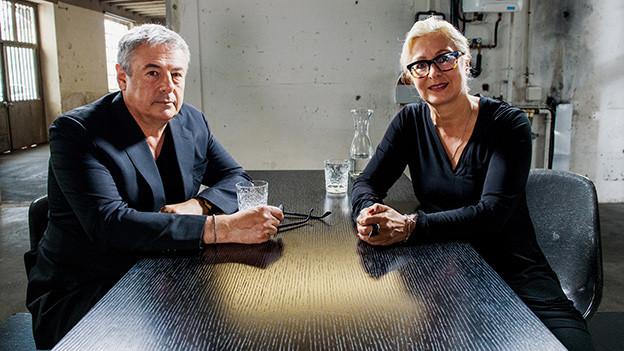 Führten ein emotionales Gespräch: SBB-Chefin Jeannine Pilloud und Filmemacher Markus Imboden.