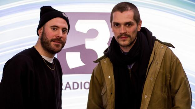 Raúl Egloff Alcaide und Andreas Huber im SRF 3 Studio.