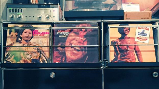 Lou Donaldson Platten in DJ Pesas Sammlung.