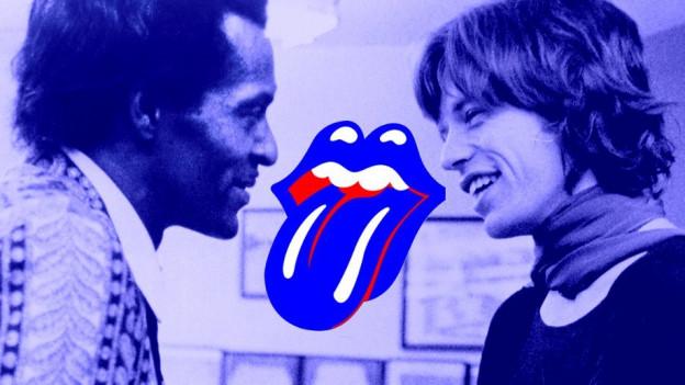 Idol & Fan - Die Rock'n'Roll-Legende Chuck Berry mit Mick Jagger, dem Sänger der Rolling Stones
