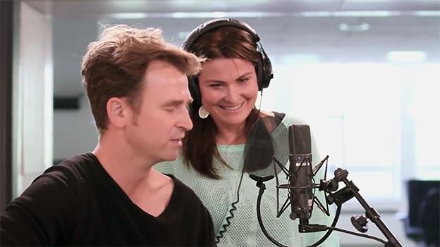 Am Start: Gustav und Judith Wernli.