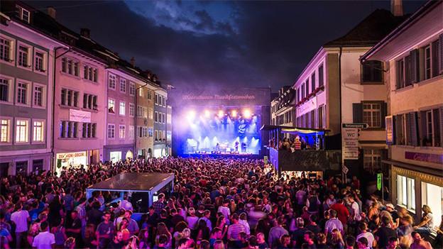 Musik in den Gassen von Winterthur.