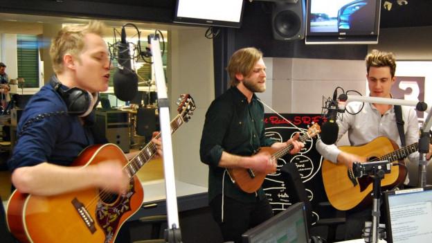 Hecht spielen live im SRF 3 Studio