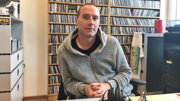 Freundliche Bürostuhl-Übername: James Lavelle von UNKLE bei  «Sounds!»