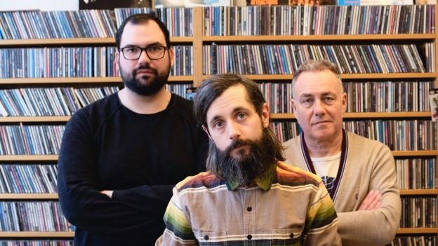 Haben Ideen für eure Playlist: Die «Sounds!»- Redaktion mit Luca Bruno, Andi Rohrer und Matthias Erb (v.l.)