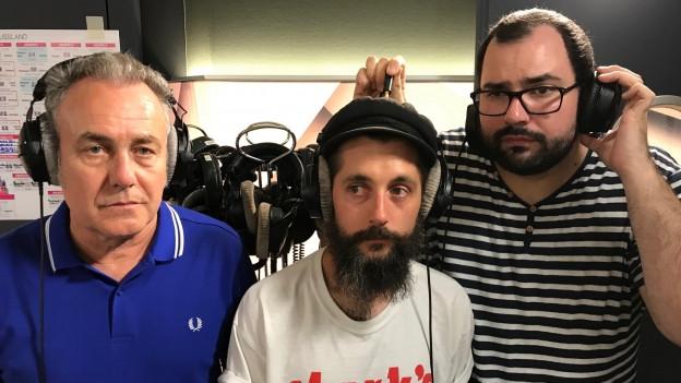 Fotos machen ist nicht die Stärke eurer «Sounds!»-Crew: Luca Bruno, Andi Rohrer und Matthias Erb (v.r.)