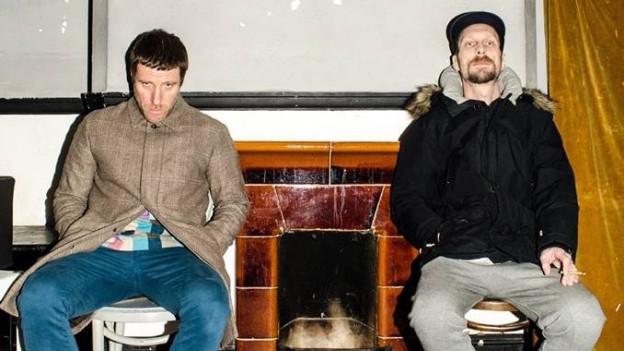 Seit über 10 Jahren genau gleicht grossartig: Texter Jason Williamson (l.) und Beat-Produzent Andrew Fearn.