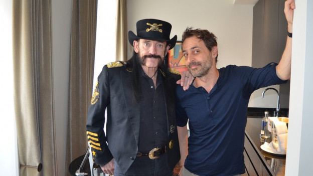Lemmy Kilmister und Dominic Dillier.