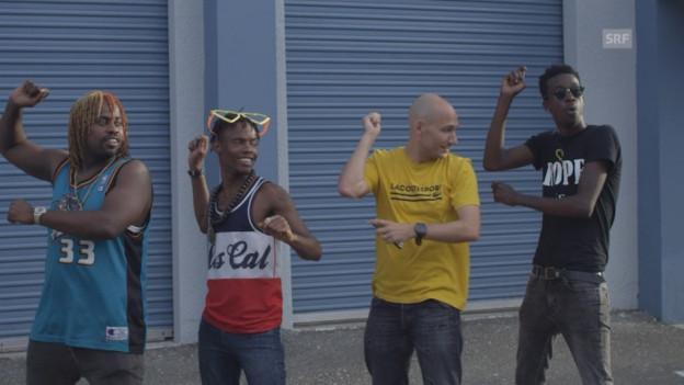 Reggae Special Moderator Wyniger lernt tanzen