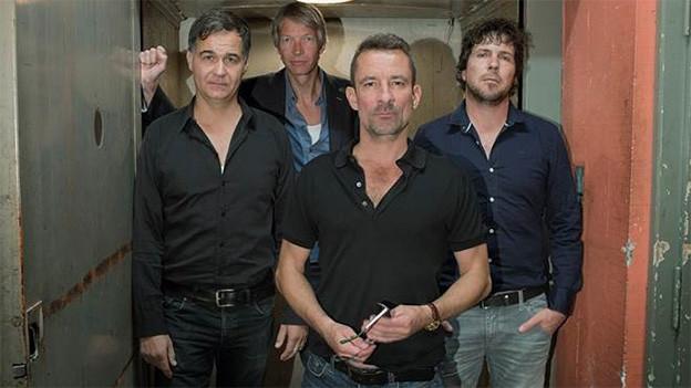 Die Band «Bubi Eifach» mit Bubi Rufener an der Front.