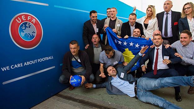 Freude herrscht im Kosovo nach der Aufnahme in die Uefa.