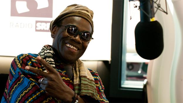 Der Mann aus der Karibik zu Gast im SRF 3 Studio: Wally Warning