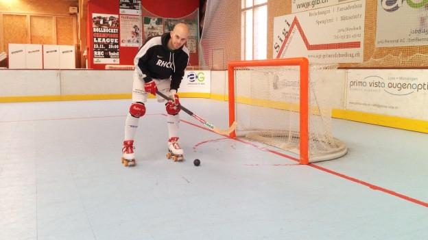 Simon von Allmen ist Feuer und Flamme: «Rollhockey muss populärer werden in der Schweiz»