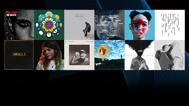 Album-Cover der Nominierten für den Mercury Prize 2014.