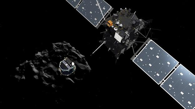 Raumsonde Rosetta mit Lande-Vehikel Philae