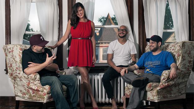 Die Bandmitglieder von Red Martina.