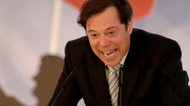 Comedian Unteregger wettert in seinem Namen: Christoph Mörgeli