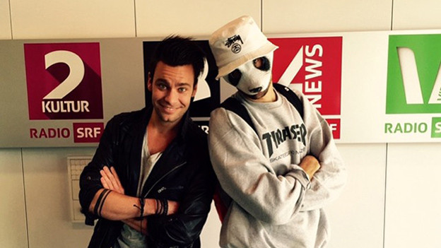 Wildlife im Studio: Rapper Cro schaute vorbei – natürlich mit Panda-Maske