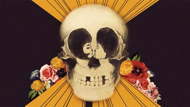 Ausschnitt des Covres von «Yours, Dreamly»: Totenkopf mit Gesichtern