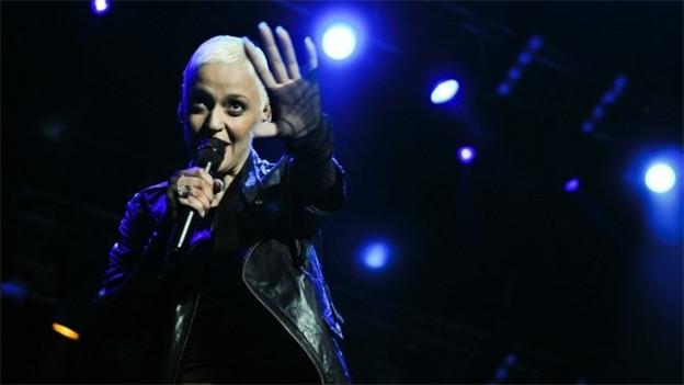Sängerin Marzia auf der Bühne