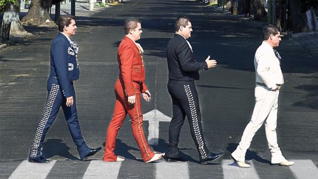 Die mexikanische Band Mariachi Rock-O hat sich auf das Covern von Welthits im Mariachi-Stil spezialisiert.