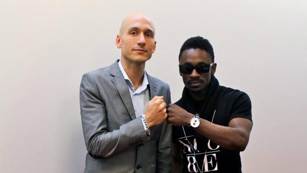 Reggae Special-Macher (links) mit Christopher Martin (2015)