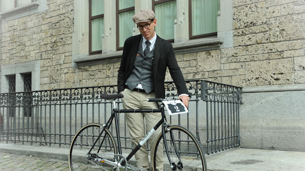 Stilsicherer Biker: Jeroen van Rooijen
