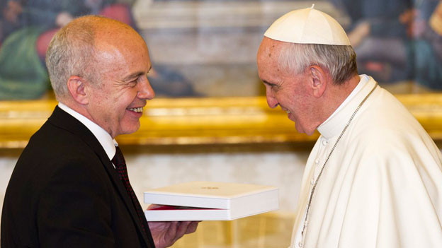Bundesrat Ueli Maurer traf Papst Franziskus.