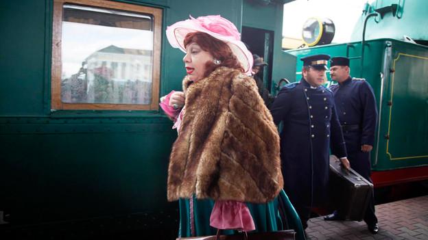 Schauspieler in der Ukraine lassen das 19. Jahrhundert wieder aufleben.