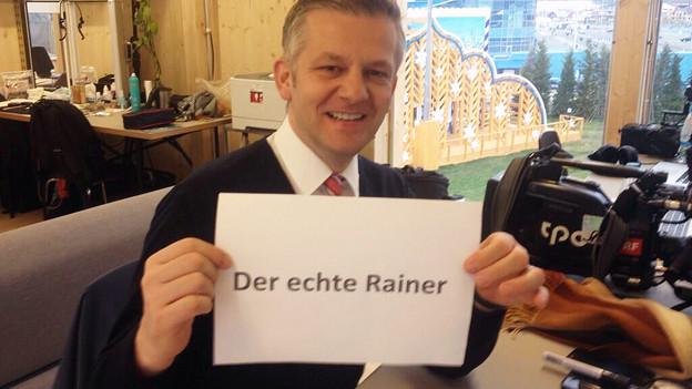 Der echte Rainer, angeschrieben.