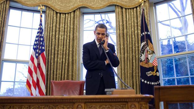 Barack Obama sprach mit Wladimir Putin am Telefon Klartext.