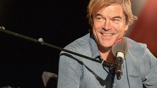 Campino zu Gast bei Tom Gisler und über 200 begeisterten Zuschauern im Radiostudio.