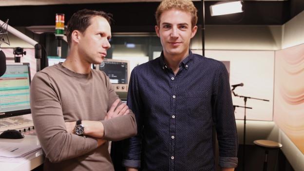 Mario Torriani (links) und Michael Elsener alias Renato Caflisch.