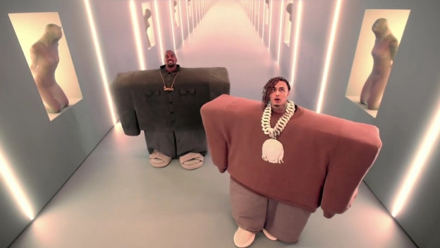 Kanye West (links) und Lil Pump.