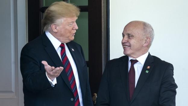 Donald Trump und Ueli Maurer.