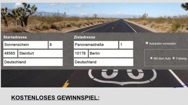 Vorsicht vor Abzocker-Seiten wie maps-24.info.