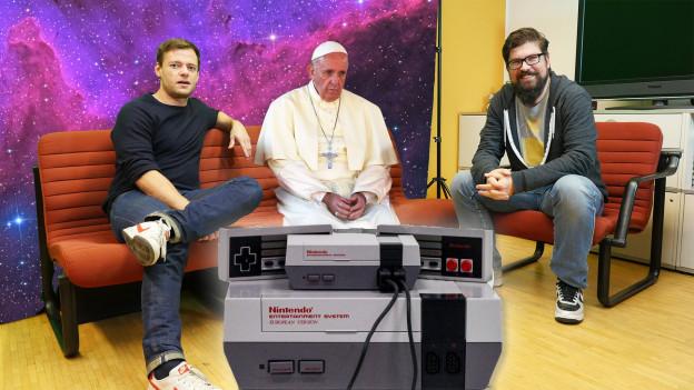 Der Papst war zu Besuch, imfall.