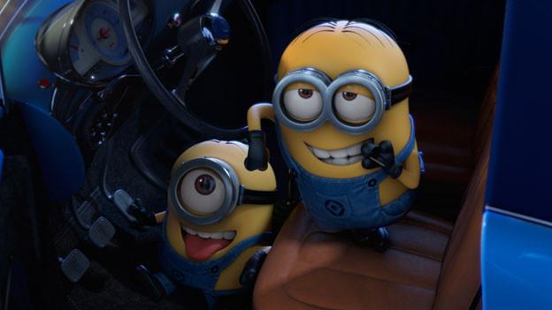 Sie sind die heimlichen Stars des Films: die Minions Kevin (links) und Dave.